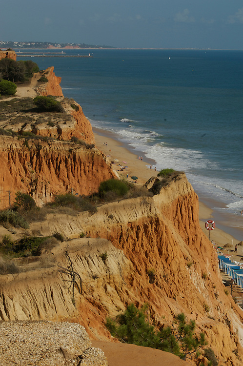 The beach and cliffs at Falesia on the Algarve, Portugal