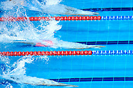 Ashgabat, Turkmenistan - 2017 September 24: Walentin Gorskow from Turkmenistan competes in Men's 4x50m Freestyle Relay Heat 1 while Short Course Swimming competition during 2017 Ashgabat 5th Asian Indoor & Martial Arts Games at Aquatics Centre (AQC) at Ashgabat Olympic Complex on September 24, 2017 in Ashgabat, Turkmenistan.<br /> <br /> Photo by © Adam Nurkiewicz / Laurel Photo Services