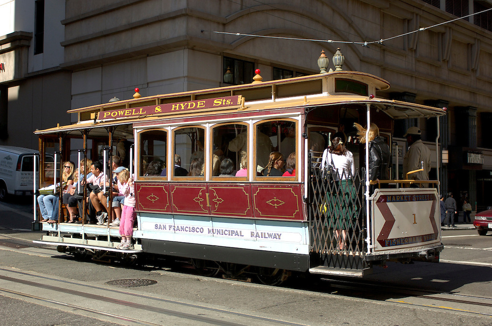 Cable Car, Powell Street, San Francisco, California, United States of America