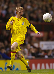 Manchester, England - Thursday, April 26, 2007: Liverpool's Stephen Darby in action against Manchester United during the FA Youth Cup Final 2nd Leg at Old Trafford. (Pic by David Rawcliffe/Propaganda)