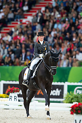 Morgan Barbancon Mestre, (ESP), Painted Black - Grand Prix Special Dressage - Alltech FEI World Equestrian Games™ 2014 - Normandy, France.<br /> © Hippo Foto Team - Leanjo de Koster<br /> 25/06/14