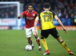 Korey Smith of Bristol City takes on Tom Flanagan of Burton Albion - Mandatory by-line: Robbie Stephenson/JMP - 10/03/2018 - FOOTBALL - Pirelli Stadium - Burton upon Trent, England - Burton Albion v Bristol City - Sky Bet Championship