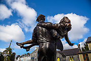 Cong, this village was the main location for The Quiet Man, a classic movie directed by John Ford. The statue remembering the two stars of the movie, John Wayne and Mauren O'Hara.