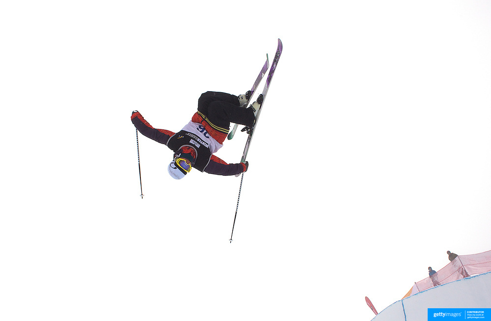 Sean Collin, USA, in action during the Freeski Halfpipe event at the Winter Games at Cardrona, Wanaka, New Zealand. 17th August 2011. Photo Tim Clayton...