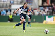 SYDNEY, AUSTRALIA - NOVEMBER 17: Melbourne Victory defender Jenna McCormick looking to pass during the round 1 W-League soccer match between Sydney FC Women and Melbourne Victory Women on November 17, 2019 at Netstrata Jubilee Stadium in Sydney, Australia. (Photo by Speed Media/Icon Sportswire)
