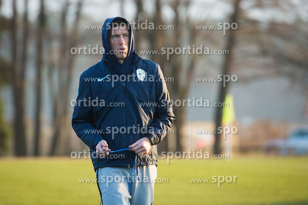 Srecko Katanec during training of Slovenian national football team before WC 2018 qualifying match vs Scotland, on March 20th, 2017, Brdo pri Kranju, Kranj, Slovenia. Photo by Ziga Zupan / Sportida