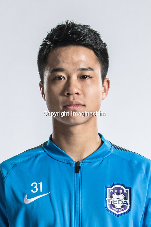 **EXCLUSIVE**Portrait of Chinese soccer player Sun Ya of Tianjin TEDA F.C. for the 2018 Chinese Football Association Super League, in Tianjin, China, 28 February 2018.