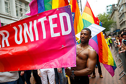 © Licensed to London News Pictures. 23/05/2015. Birmingham, UK. The Birmingham Gay Pride Parade 2015 takes place on New Street in Birmingham on Saturday 23 May 2015. Photo credit : Tolga Akmen/LNP