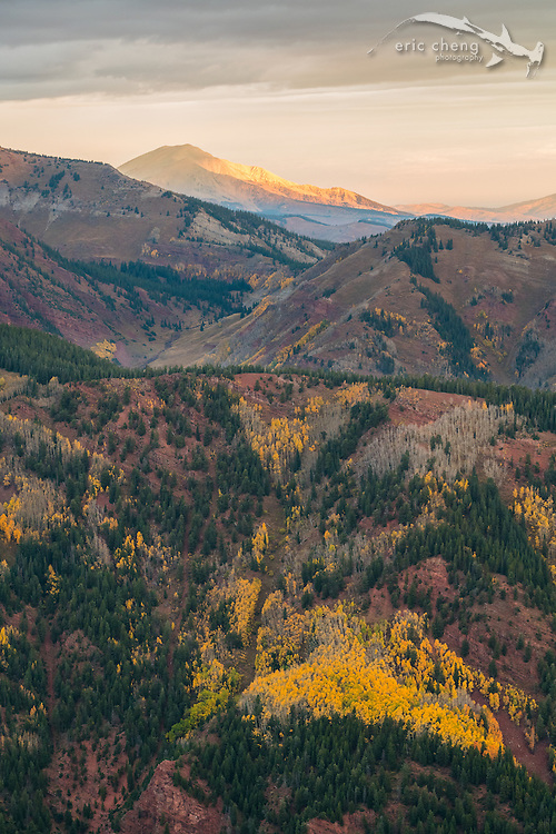 View from Aspen Mountain, Aspen, Colorado.