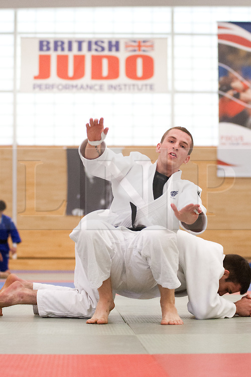 © London News Pictures. 23/08/2012. Dartford, Kent. Judo Paralympian Marc Powell in training before competing at London2012. Britain's leading judokas from ParalympicsGB in training at their national base in Dartford, Kent. Picture credit should read Manu Palomeque/LNP