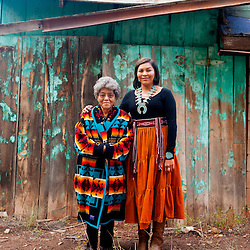 Kayla Begay and her grandmother Yvonne in Navajo, N.M.