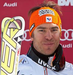 19.12.2010, Gran Risa, Alta Badia, ITA, FIS World Cup Ski Alpin, Men, Giant Slalom, im Bild am Podium Cyprien Richard (FRA, #9) Platz 2. EXPA Pictures © 2010, PhotoCredit: EXPA/ J. Groder