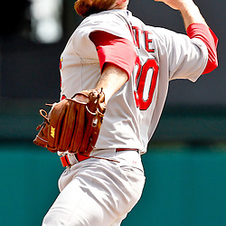March 19, 2012; Lake Buena Vista, FL, USA; St. Louis Cardinals relief pitcher Jason Motte (30) against the Atlanta Braves during a spring training game at Disney Wide World of Sports complex. Mandatory Credit: Derick E. Hingle-US PRESSWIRE