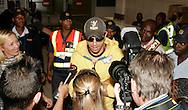 Enrique Iglesias arrives at Lanseria airport.08 September 2010,.Lasaria Aiport, Johannesburg, South Africa,.Photo by :Abbey Sebetha/SPORTZPICS/CLT20