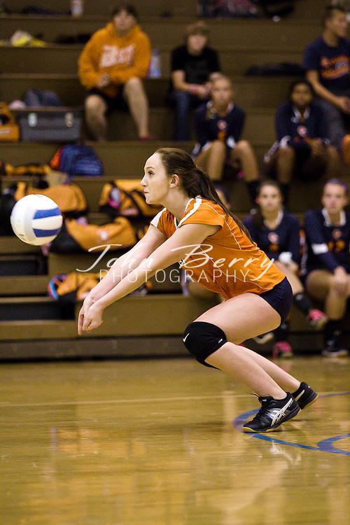 September 08, 2014.  <br /> MCHS JV Volleyball vs Orange.  Madison wins 2-0 (25-8, 25-20).