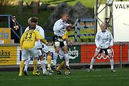 05.05.2008, Tehtaankentt?, Valkeakoski, Finland..Veikkausliiga 2008 - Finnish League 2008.FC Haka - Kuopion Palloseura.Kalle Parviainen (FC Haka) v Jussi Kinnaslampi (KuPS).©Juha Tamminen.....ARK:k