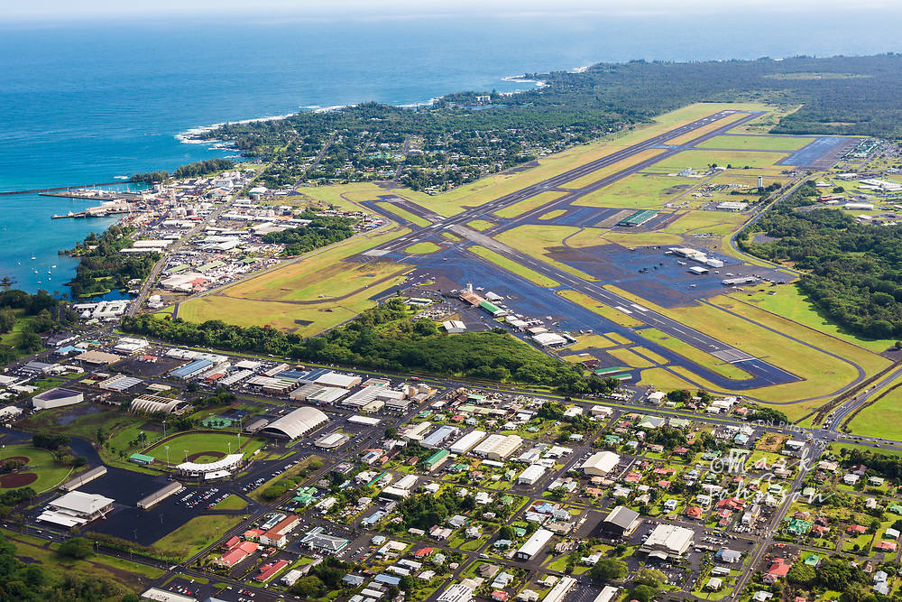 Aerial photo of Hilo Airport, Big Island, Hawaii