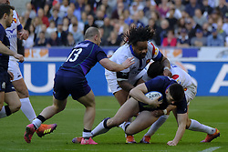 February 23, 2019 - Saint Denis, Seine Saint Denis, France - The Center of French Team MATHIEU BASTAREAUD in action during the Guinness Six Nations Rugby tournament between France and Scotland at the Stade de France - St Denis - France..France won 27-10 (Credit Image: © Pierre Stevenin/ZUMA Wire)