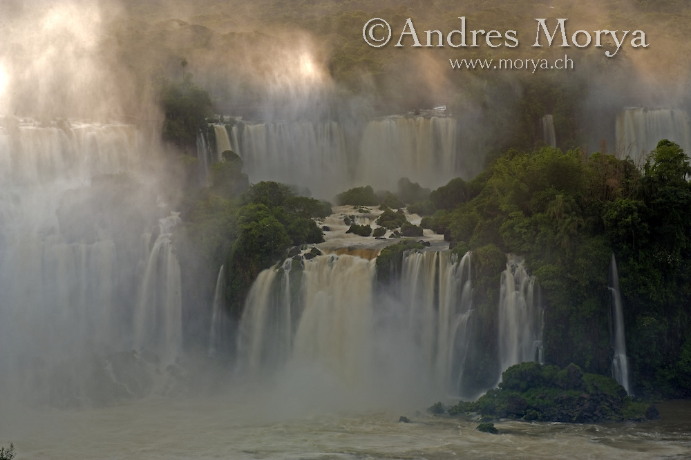 Iguazu falls seen from the brazilian side of iguacu national park , parana , brazil , south america Image by Andres Morya