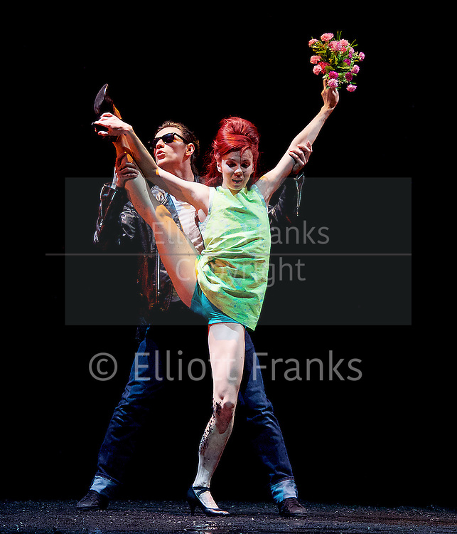 Natalia Osipova <br /> Triple Bill <br /> at Sadler's Wells, London, Great Britain <br /> rehearsal <br /> 28th June 2016 <br /> <br /> <br /> Run Mary Run <br /> by Arthur Pita <br /> Natalia Osipova <br /> Sergei Polunin <br /> <br /> <br /> Photograph by Elliott Franks <br /> Image licensed to Elliott Franks Photography Services