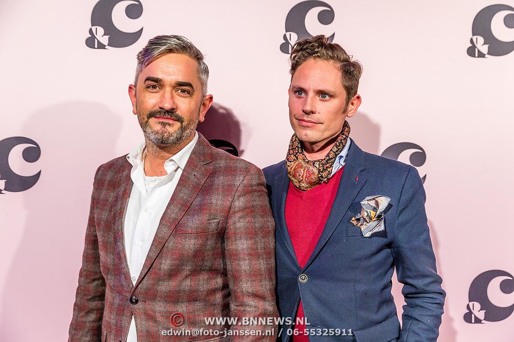 NLD/Amsterdam/20170321 - Chantal Janzen lanceert mediaplatform &C, Couturier Edwin Oudshoorn & partner Nick Lynch