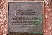 National Historic  Landmark plaque, Telluride, Colorado