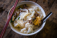 SAPA - VIETNAM - CIRCA SEPTEMBER 2014: Typical Vietnamese noodle soup