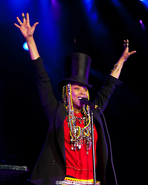 Erykah Badu performs during the Summer Spirit Festival at Merriweather Post Pavilion in Columbia, MD on Saturday, August 3, 2013.