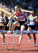 Eilidh Doyle (GBR) places second in the women's 400m hurles in 54.57 during IAAF Birmingham Diamond League meeting at Alexander Stadium on Sunday, June 5, 2016, in Birmingham, United Kingdom. Photo by Jiro Mochizuki