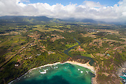 Kalihiwai Beach and valley, Kauai, Hawaii