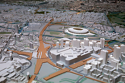 UK ENGLAND LONDON 20APR15 - Detail view of the Olympic Stadium and Village on the New London Architecture scale model of all built and approved buildings in London on display in The Building Centre, central London.<br /> <br /> jre/Photo by Jiri Rezac<br /> <br /> © Jiri Rezac 2015