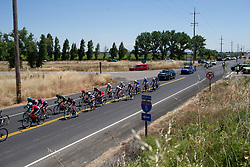 The peloton chases the break during Stage 1 of the Amgen Tour of California - a 124 km road race, starting and finishing in Elk Grove on May 17, 2018, in California, United States. (Photo by Balint Hamvas/Velofocus.com)
