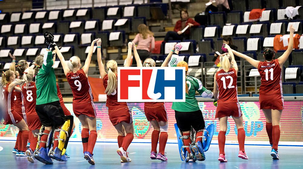 BERLIN - Indoor Hockey World Cup<br /> Quarterfinal 1: Belarus - Australia<br /> foto: Belarus wins.<br /> WORLDSPORTPICS COPYRIGHT FRANK UIJLENBROEK