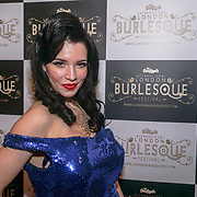 Prefomer Miss Sugar rush at the London Burlesque Festival the VIP Opening Gala at Conway Hall on 18th May 2017, UK. by See Li