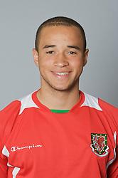 SWANSEA, WALES - Monday, March 30, 2009: Wales' Under-21 Ashley Richards. (Photo by David Rawcliffe/Propaganda)