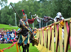 Tens of thousands of spectators were treated to displays including hand to hand combat and jousting during Historic Scotland's 2 day event held at Linlithgow Palace in West Lothian.<br /> <br /> &copy; Dave Johnston/ EEm