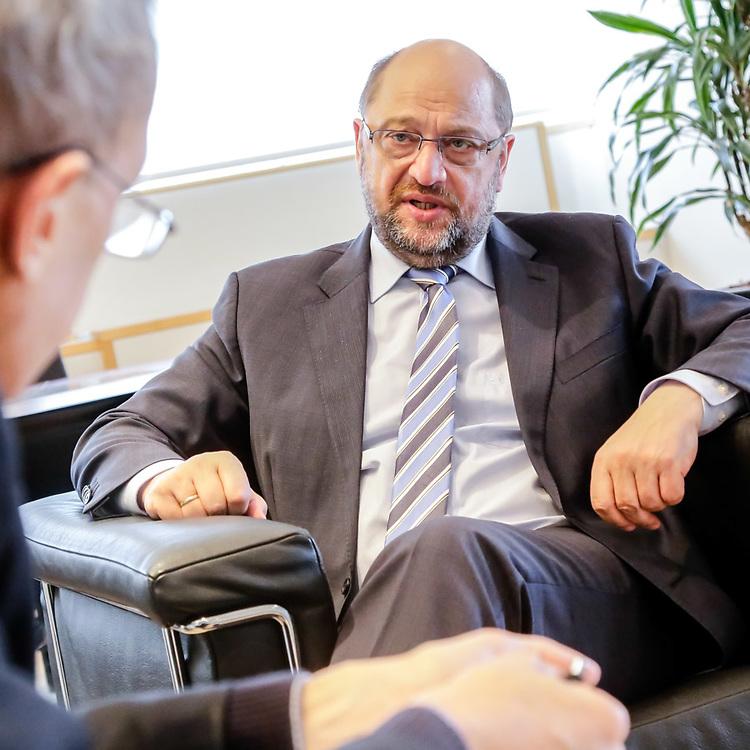Martin SCHULZ - EP President meets with ITW Stuttgarter Nachrichten