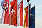 internationale Flaggen, Kressbronn, Bodensee, Baden-Württemberg, Deutschland