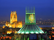 The 2 cathedrals, Liverpool, Merseyside