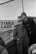 Paul Conroy with Alan Cowdery at the races - Stiff Records 1978