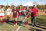 November 1, 2015: The Oklahoma Christian University Eagles soccer teams celebrate senior day during the last home games of the season on the campus of Oklahoma Christian University.