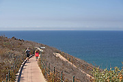 Couple Walking on Trail at Dana Point Headlands