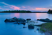 Dusk on Lake of the Woods<br />