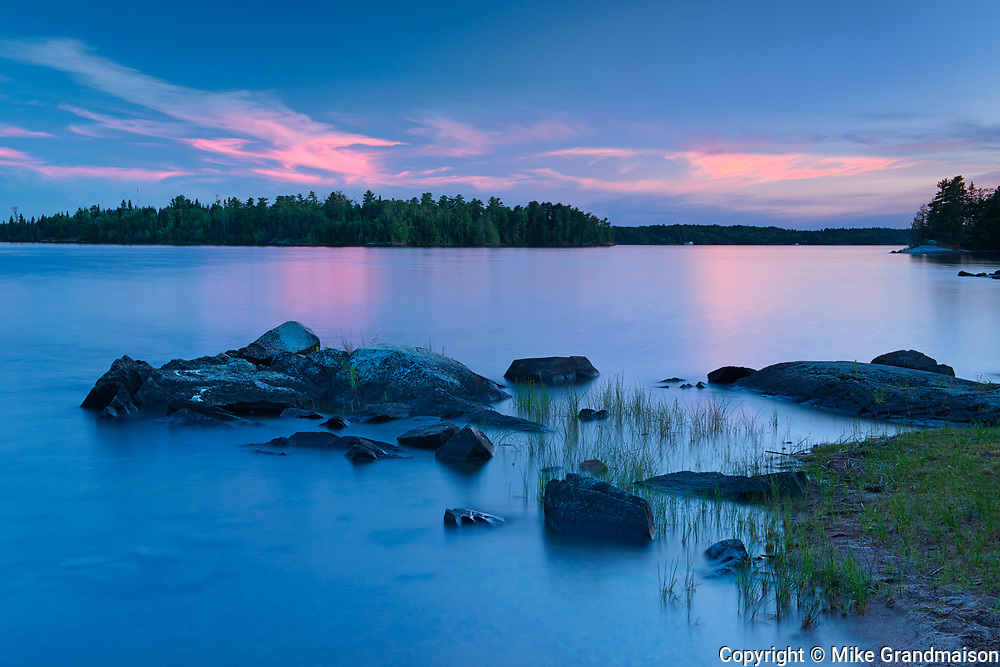 Dusk on Lake of the Woods<br />Sioux Narrows Provincial PArk<br />Ontario<br />Canada