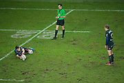 Jules Plisson (Stade Francais) missed new time a kick from 22meters line during the French championship Top 14 Rugby Union match between Stade Francais Paris and Union Bordeaux-Begles on December 30, 2017 at Jean Bouin stadium in Paris, France - Photo Stephane Allaman / ProSportsImages / DPPI