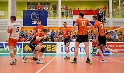 23-09-2016 NED: EK Kwalificatie Nederland - Oostenrijk, Koog aan de Zaan<br /> Nederland wint met 3-0 van Oostenrijk / Jeroen Rauwerdink #10, Robbert Andringa #18