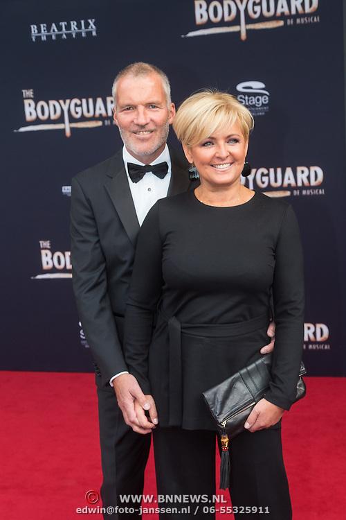 NLD/Utrecht/20150927 - Premiere musical The Bodyguard, Caroline Tensen en partner Ernst Jan Smids