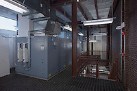 Interior photo of the mechanical space at Westminster High School by Jeffrey Sauers of Commercial Photographics