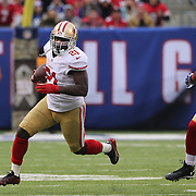 Frank Gore, San Francisco 49ers in action during the New York Giants V San Francisco 49ers, NFL American Football match at MetLife Stadium, East Rutherford, NJ, USA. 16th November 2014. Photo Tim Clayton