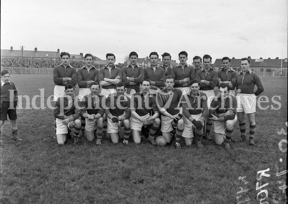 Longford v Meath National Football League at Navan - Meath Team. 06/02/1955. R973.  (Part of Independent Newspapers Ireland/NLI Collection)